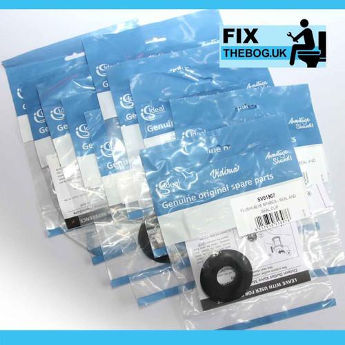 FixTheBog 25 Trade Packs Ideal Standard ARMITAGE SV01967 FLUSHVALVE SEAL including CLIP FTB3532 5055639193529