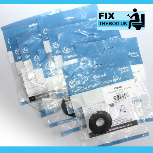 FixTheBog 25 Trade Packs Ideal Standard ARMITAGE SV01967 FLUSHVALVE SEAL including CLIP FTB3532 5055639193529