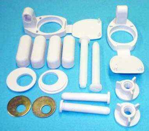 Ideal Standard Sv82167 Orion Seat And Cover Hinge Set Includes Buffer Pads FTB1696 5055639194427