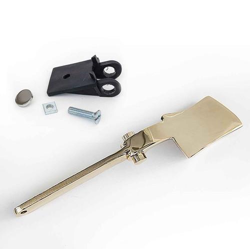 Luxury TULIP Side Cistern lever and fulcrum Bracket GOLD Finish Base NAZ FTB1416 5055639128255