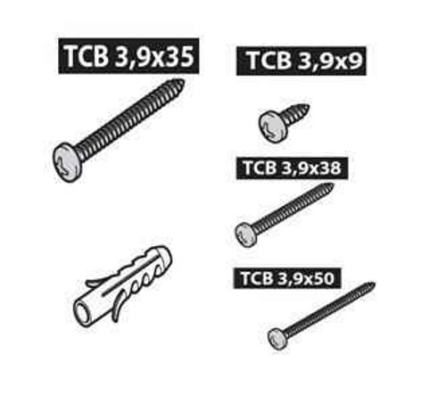 Ideal Standard T001317NU Connect R/Swim Fixing Screws Set FTB4813 5055639188815