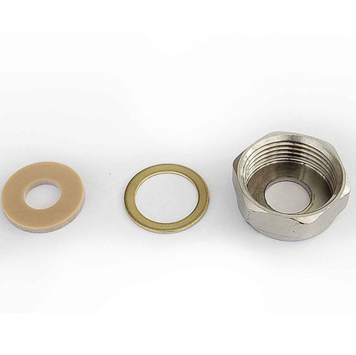 Ideal Standard S961130AA Capnut 1 BSP with brass and rubber - Chrome FTB4680 5055639187481