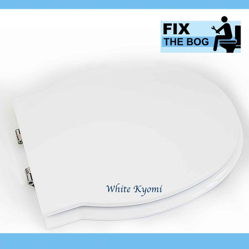 FixTheBog Ideal Standard WHITE Kyomi Resin Replica Seat cover and Chrome plated hinges FTB4115 5055639179646