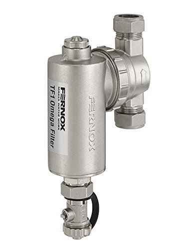 Fernox TF1 Omega Nickel plated brass, compact design filter OM22N 62248 FTB5321 5014551622487