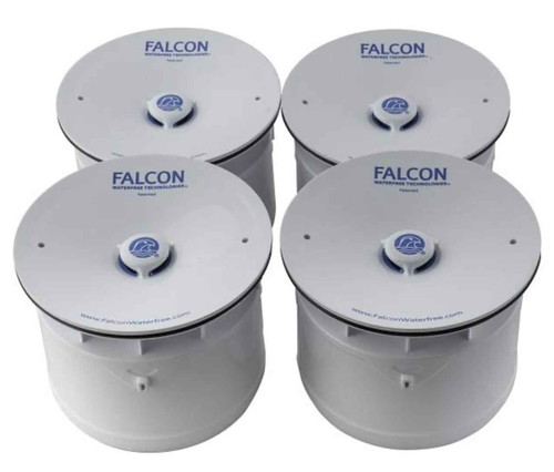 Falcon Velocity Pack of 4 Replacement Waterless Urinal Cartridges for Aridian FTB4240 5055639105003