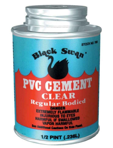 Black Swan Solvent Weld PVC Cement 236ml Tin FTB2531 54647070056