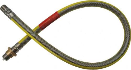 Cooker hose 1000mm x 1/2 stainless steel bayonet- EN14800 FTB5363 5060232142782