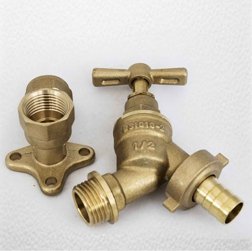1/2 Bip Tap with Brass Wall Plate FixTheBog FTB5533 5055639176362