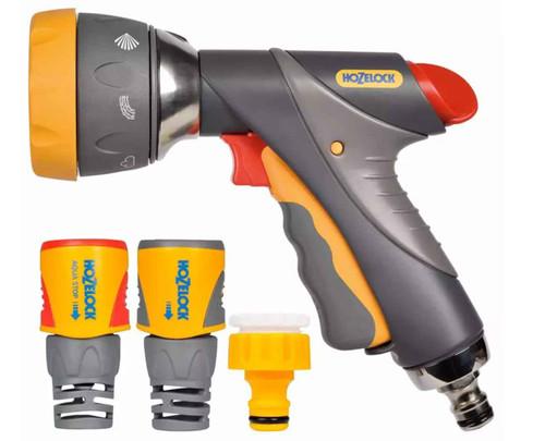 Hozelock 23719018 Multi Spray Pro Gun and Fittings FTB6005 5010646059169