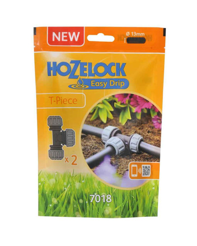 Hozelock 7018 T Piece 2 Pack FTB6058