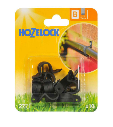 Hozelock 2771 13mm Supply Hose Wall Clip for Irrigation system 10 pack FTB6095 5010646040297