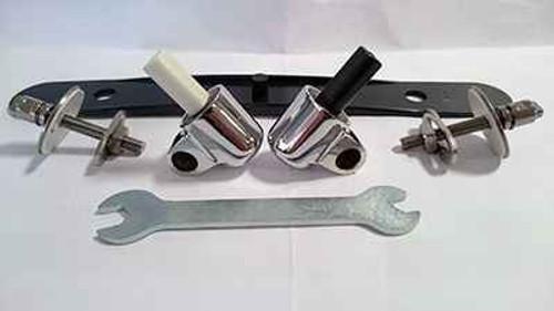 Fixthebog Tv110Aa Tonic Ii / Turrano Seat And Cover Hinge Kit Soft Close Chrome Finish FTB10049 5055639144781