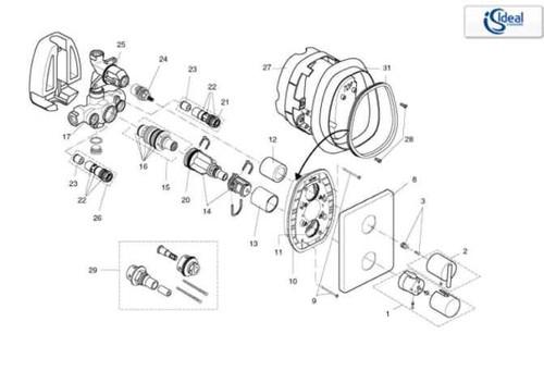 Ideal Standard H960680Aa Showeroud Chrome Finish FTB10372 5055639148017