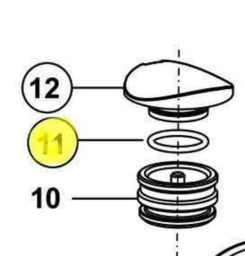 Ideal Standard A962605Nu 0 Ring For Chrome Cap FTB10608 5055639150379