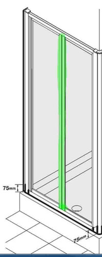 Ideal Standard Ee726729Ah Connect Double Handle Door Hinge Seal Grey Finish FTB10059 3800861021612