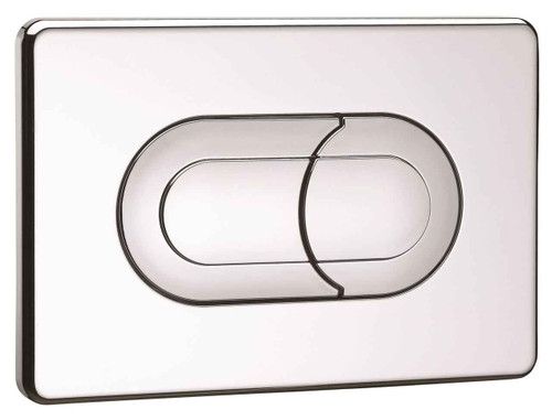 Ideal Standard Vv640086 In Wall Frame Salina Dual Flush Plate Satin Satin Chrome Finish FTB10075 4015413773096