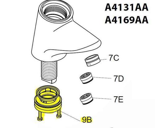 Ideal Standard A963381Nu Thermostatic Mixer Tap Fixing Kit FTB10378 8014140428497