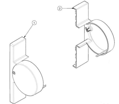 Ideal Standard Sv11836 Gen 4 Hinged Bracket Cover Pack Blue Blue Finish FTB10705 4015413995047