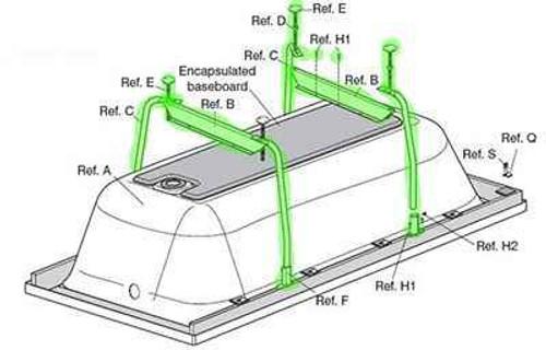 Ideal Standard E491867 Idealform Plus 750Mm / 800Mm Bath Leg Set FTB10745 3800861032984