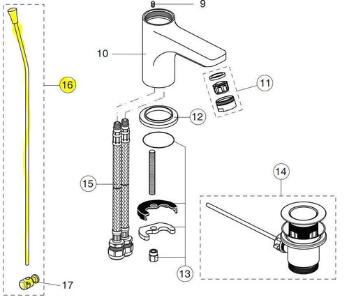 Ideal Standard B960691Aa Alto Pop-Up Rod For Basin Waste Chrome Finish FTB10765 5012001558836