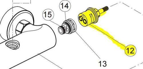 Ideal Standard A962568Nu Ceratherm Diverter FTB10811 5017830525585
