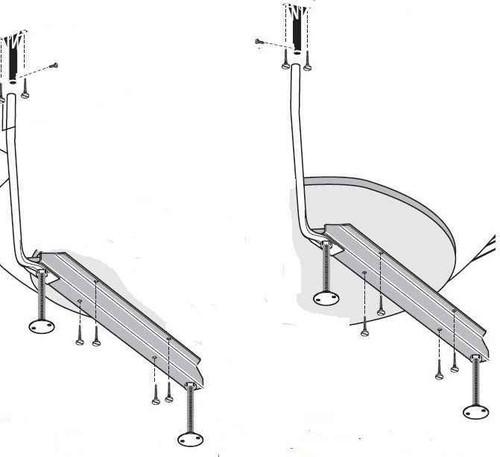 Ideal Standard E494767 Shower Bath And Offset Corner Leg Pack Fits Idealform Plus FTB11024 4015413668330