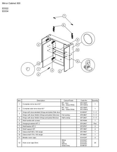 Ideal Standard EF37967 Glass Shelf 360mm x 100mm SINGLE Neutral finish FTB11088 4015413505413