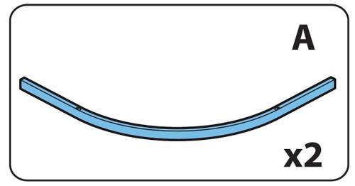 Ideal Standard Lv256Eo Kubo Quadrant Curved Profile Railt Set 900Mm Pair Bright Silver Finish FTB11412 5055639158412