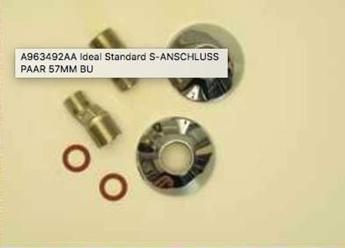 Ideal Standard A963492Aa S Bend Wall Connector Complete Chrome Finish FTB11511 5055639159402