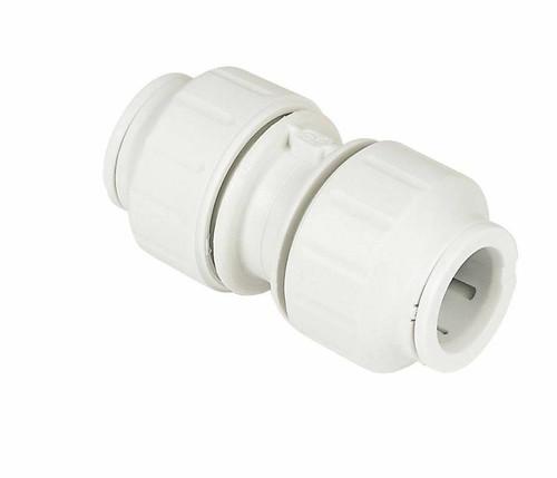 JG Speedfit Plastic Trade Pack 2 x Push-fit Equal Coupler 15mm FTB11689 5055639143852