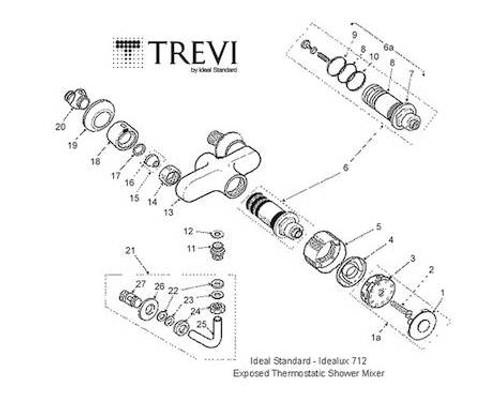 Trevi Idealux 712 Exposed Idealux 712 Ideal Standard FTB11657 Idealux 712
