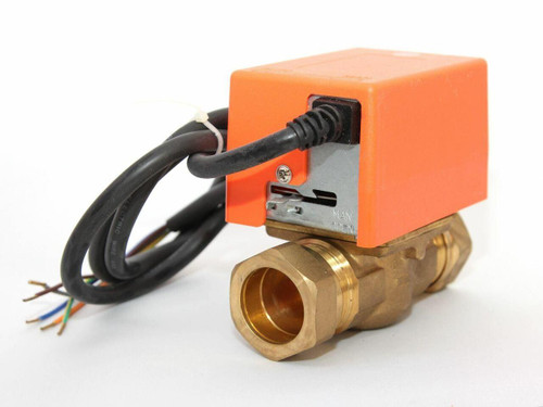2 Port SOLAR 3/4 BSP Comp Irish Pipe Motorised Zone Valve Actuator SOLAR THERMAL SYSTEMS FTB2792 5055639195554
