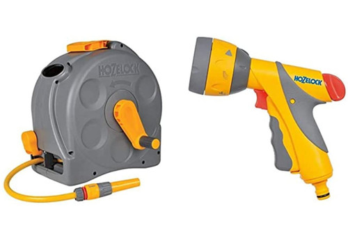 Hozelock Compact 2in1 Reel with 25m Hose and Multi Spray Gun Plus FTB6172 5055639135598