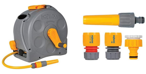 Hozelock Compact 2in1 Reel with 25m Hose and Hozelock Connection starter set FTB6173 5055639135581