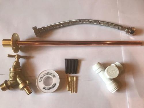 Outside Tap Kit DIY Professional finish 350mm through the wall Flange with Plastic TeeGT1ALT2 FTB294ALT2 5055639171558