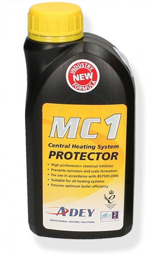 Adey MC1 Magnaclean Central Heating Corrosion Scale Protector Liquid Inhibitor FTB6198 5060106370372