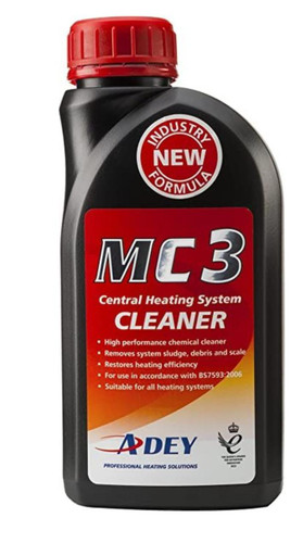 Adey MC3 Magnaclean Central Heating System Scale Cleaner Sludge Remover 500ml FTB6199 5060106370419