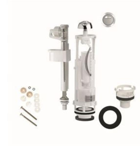 Lecico CPKSIAMP flush and fill valve complete replacement set Optima 49 flush valve with height and overflow adjustment, and Compact 99B inlet valve FTB6209 5055639135536
