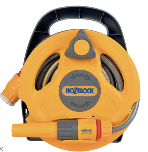 Hozelock 2427 Small Hose and Reel, Ideal for patios and Balconies FTB6170 5010646062466