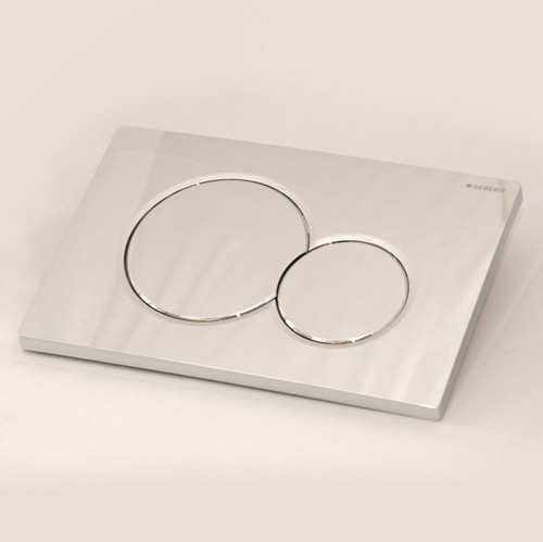 GEBERIT SIGMA01 DUAL FLUSH PLATE FOR SIGMA UP320 CISTERN 115.770.21.5 ALL CHROME FTB2482 4025410035172