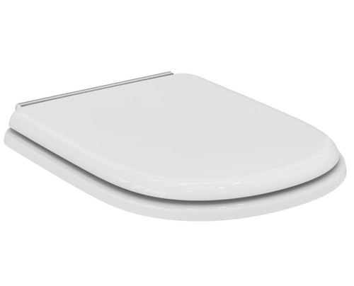 Ideal Standard T627801 White Calla Seat ALT to Sottini Reprise chrome-plated hinges FTB9163 8014140090373