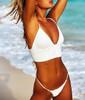 2018 Bikinis Women New Sexy Swimwear Swimsuit White Push Up Bikini Bathing Suit Women Pleated Bikini Set Monokini