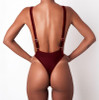 Thong Swimwear One Piece Swimsuit Solid Bathing Suit Women Sexy Piece Swimsuit Halter Monokini Beach Wear