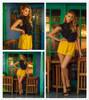 Polka Dot Cute Ruffle Crop Blouse 2018 Bow Tie Slit Back Women Frill Trim Sexy Tops Fashion High Neck Elegant Slim Blouse