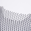 New Sexy Rhinestone Net Tops Sleeveless Hollow out Stretch Rhinestone Mesh Short-length Black Crop Tops