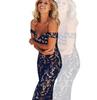 Blue lace collar Slim dress Party Dress