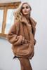 teddy coat Faux lambswool oversized jacket coat Winter black warm hairly jacket Women autumn outerwear 2018 new female overcoat