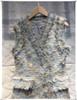 Autumn Women TWEED Dress Blue V-Neck Sleeveless Tassel Button Tank Elegant Dress High Quality A-line Mini Dress Vestidos