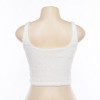 Cute Sexy Fuzzy White Crop Top Cami Women Casual Tops Deep V Neck Backless Fluffy Ladies Tank Tops Fashion 2019