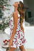 2019 summer spaghetti strap women dress slash neck print female dress zipper sleeveless sexy ladies vestidos